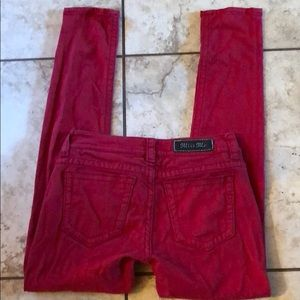 Miss Me Red Skinny Jeans Size 28 x 31
